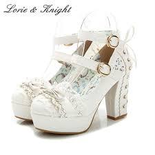 <b>Japanese</b> Style <b>Sweet</b> Bow Lace <b>Candy Color</b> Princess Shoes ...