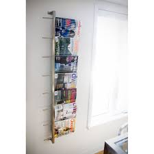 magazine rack wall mount: stainless steel magazine rack stainless steel magazine rack modern magazine rack home