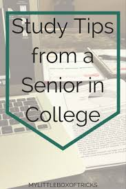 study tips from a college senior