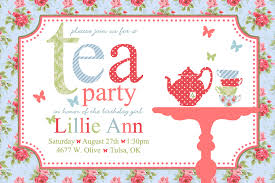 tea party invite templates cloudinvitation com tea party invitation template