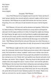 essay walt whitman can you download to on the site akhileshpahwacom essay walt whitman