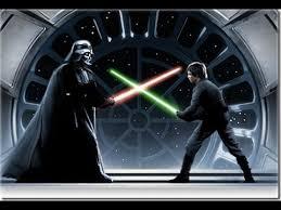 Image result for Luke sky walker and Darth Vader