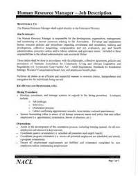 lampe   human resources hr manager job description template fotohuman resources manager resume job description template