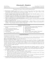 non profit executive resume co non profit executive resume
