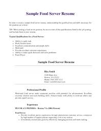 server resume skills examples food server description for resume food server job description