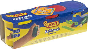 Тесто для <b>лепки JOVI</b> в баночках 3 цвета х 110 г — купить в ...