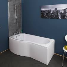 bathroom p ceramica p shaped shower bath bundle mm left hand