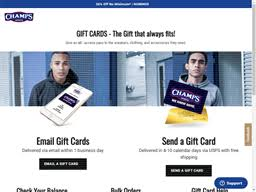 Champs Sports | Gift Card Balance Check | Balance Enquiry, Links ...