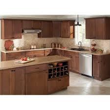 Hampton Bay Kitchen Cabinets Hampton Bay 1275x14 In Cabinet Door Sample In Shaker Cognac
