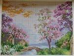 Вышивка риолис и пейзажи