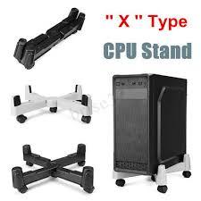 X Type 5 Wheels Adjustable <b>CPU Stand Universal Computer</b> Holder ...