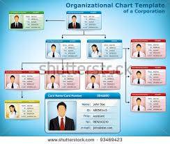 company structure diagram with personalized cards for employees    company structure diagram   personalized cards for employees