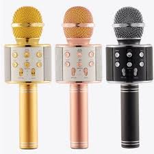 Original WSTER <b>MIC Bluetooth microphone WS 858</b> karaoke KTV ...
