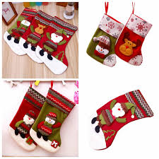 New <b>Christmas</b> Stocking <b>Santa</b> Claus <b>Snowman Shape Gift</b> Bag ...
