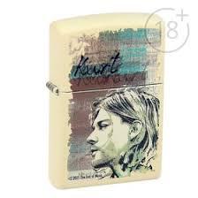 <b>Зажигалка ZIPPO</b> 29051 <b>Kurt Cobain</b> с покрытием Cream Matte ...