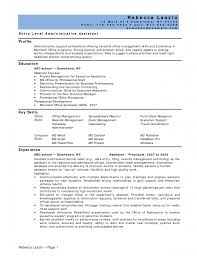 entry level administrative assistant resume entry level sample entry level administrative assistant resume entry level sample resume for business administration major in financial management sample resume for business