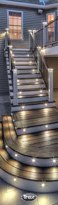 create a little drama on your deck with deck lighting installed on stair risers and railing blog 3 deck accent lighting