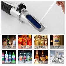 refractometer <b>alcohol alcoholometer meter</b> 0~80%v/v atc handheld ...