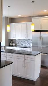 steel appliances granite countertops white cabinets clean  ideas about kitchens with white cabinets on pinterest kitchen colors