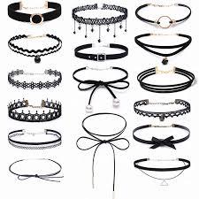 NK860 New <b>Fashion</b> Black <b>Chokers Necklace Multilayer</b> Leather ...