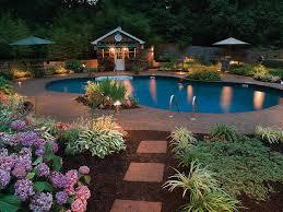 pool landscape lighting ideas backyard landscape lighting