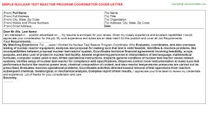 program coordinator cover letters 4 nuclear test reactor program coordinator
