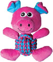 <b>Игрушка</b> для собак <b>Kong Weave</b> Knots Свинка средняя, RK21E, 22 ...