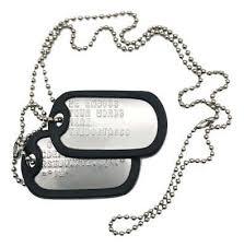 PAIR SET U.S. PERSONALISED <b>STAINLESS STEEL ARMY</b> ...