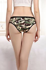 Hot sell <b>5pcs</b>/<b>lot Fashionable</b> sexy camouflage <b>print</b> cotton girl ...