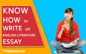 know how to write an english literature essay