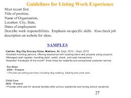 cover letter and resume writing for high school students    experience