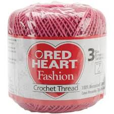 Image result for crochet thread size 3