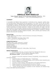 sample software resume objective shopgrat cover letter sample software resume objective summary and computer skills sample software resume