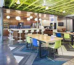 break area dpr construction san francisco offices interface walk the plank commerical interior design collaboration grey blue cool office space idea funky