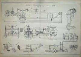 old victorian antique prints and maps antique print engineering diagrams american locomotive trains  d