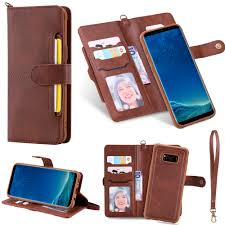 Flip Case for Samsung Galaxy S8 <b>Luxury</b> Detachable <b>Leather Wallet</b> ...