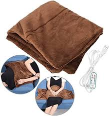 Faraone4w Electric <b>Heated Shawl Blanket</b>,100x65cm <b>Fast Heating</b> ...
