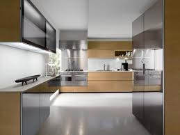 Modern Design Kitchen Cabinets Blue Kitchen Design With White Tile Backsplash Furnished With Gray