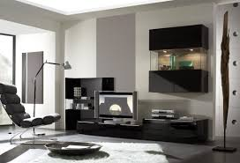 living room furniture miami: masculine living room wooden furniture with tv wall unit mounted and book shelves made of