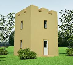 tower design   Earthbag House PlansGuard Tower  click to enlarge