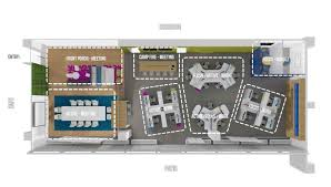the layout of the proposed pop up lab for the fbis current headquarters at the building office furniture