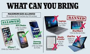 ipads banned but iphones ok what can you bring on flight