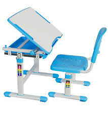 vivo height adjustable childrens desk chair kids interactive work station blue childs office chair
