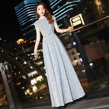 <b>Robe De Soiree</b> YIDINGZS Elegant Long Evening Dress Silver Party ...