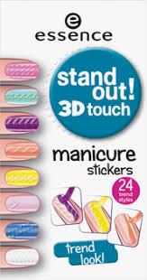 essence. <b>Наклейки для ногтей</b> - <b>stand</b> out! 3D touch manicure ...