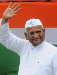 Image result for anna hazare image