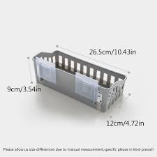 Wall Mounted <b>Bathroom Storage</b> Rack <b>Plastic</b> Bathroom Shelf ...
