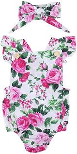 Newborn Kids Baby Girls Clothes Floral Jumpsuit ... - Amazon.com