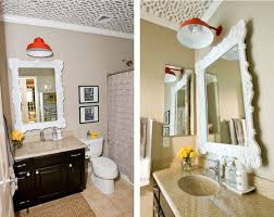 a bathroom makeover that really shines affordable bathroom lighting