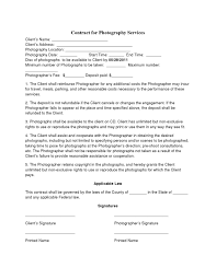 photography contract template non compete agreement photography contract template